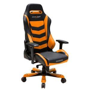 DX Racer Iron Series X large PC gaming chair ergonomic rocker BLACK and ORANGE