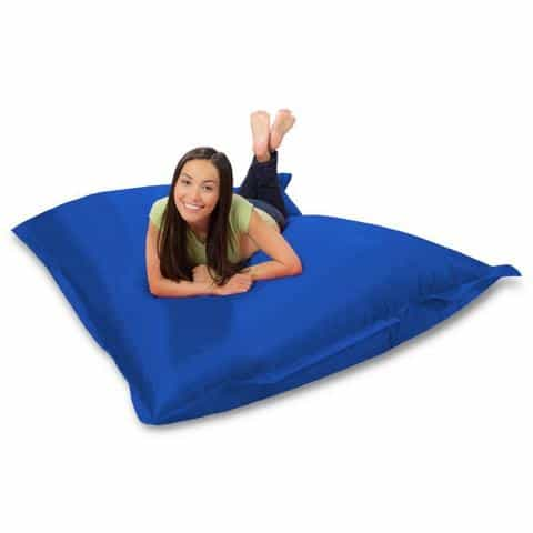 Huge Bean Bag Chair for Playing Video Games & Watching TV, Blue