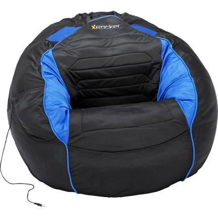 Stylish Blue and Black Bean Bag Sound Chair