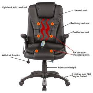 Furmax Pu Leather PC Gaming Chair Robot's Eye