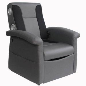 X Rocker 0717901 Triple Flip 2.1 Storage Ottoman Sound Chair with Arms
