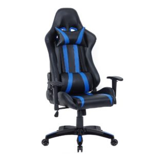 Giantex Executive Racing Style High Back Reclining Chair Gaming Chair  Office Computer (Black+Blue