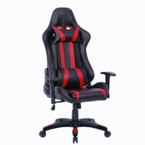Giantex Executive Racing Style High Back Reclining Chair Gaming Chair Office Computer (Black+red)