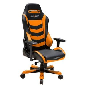 DX Racer Iron Series X large PC gaming chair ergonomic rocker BLACK and ORANGE