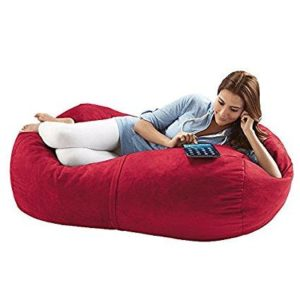 Jaxx Sofa Saxx Bean Bag Lounger 4 Feet Cherry Microsuede
