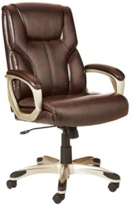 Amazon Basics High-Back Executive Chair - Brown