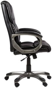 Amazon Basics High-Back Executive Chair ergonomic design