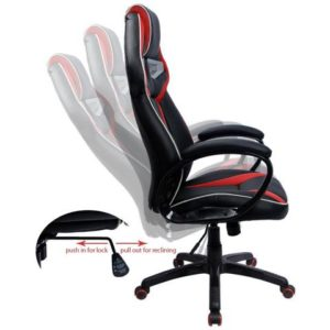 Furmax Pu Leather Gaming Chair Robot's Eye ergonomic design