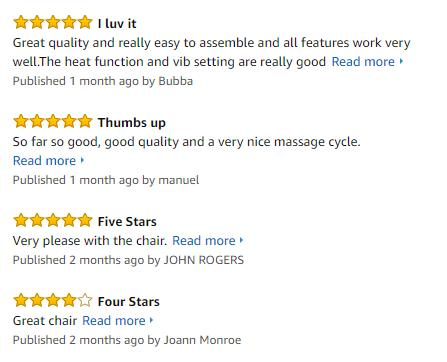 SGS Office Massage Chair Heated Vibrating PU Race Car Style customer_reviews
