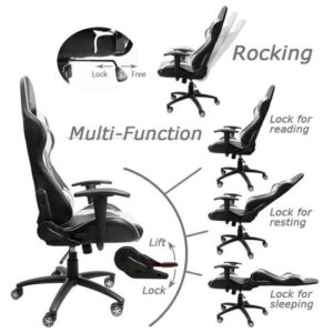 The PC Gaming Chair Is Also Extremely Easy To Maneuver Around With And  Comes With Multi Directional Wheels Which Sit On A Very Sturdy Base That  Allows You ...