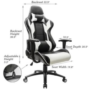 Homall Executive Swivel Leather Gaming Chair Dimentions